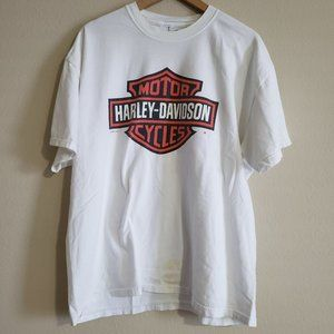 Harley Davidson White T-Shirt Size XL